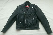 "thick,Black Leather motorcycle biker jacket,insulated,NewAge,mens 44 M, 48""chest"
