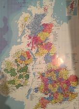 Map Of  great britain And ireland Wall Poster 50cm x 70cm United Kingdom