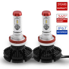 oEdRo 2x H11 Led Headlight Bulbs H8 H9 HID Bulb 6000K White 100W 12000LM Lamps