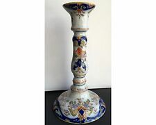 Antique French Desvres ? Faience Rouen Fourmaintaux Candle Holder Stick