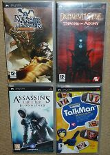 JOB LOT 4 x SONY PSP GAMES Monster Hunter Dungeon Siege Assassin Creed TalkMan