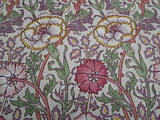 William Morris Curtain Fabric 'Pink & Rose' 0.5 METRES (50cm) Manilla/Wine
