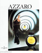 PUBLICITE ADVERTISING 046  1988  AZZARO  parfum femme Couture