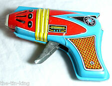 "RARE VINTAGE ""SHUDO SPACE GUN"" SPARKING TOY JAPAN C1960S FRICTION"