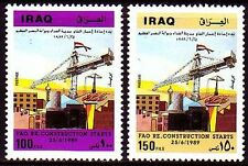 Irak Iraq 1989 ** Mi.1453/54 Wiederaufbau Reconstruction of Fao
