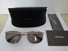 New Authentic Tom Ford Tate TF287 Gold Gray Lens Aviator Sunglasses $390 w/ Case