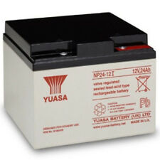 YUASA NP24-12, 12V 24AH (as 26Ah & 28Ah) EMERGENCY LIGHT LIGHTING BATTERY