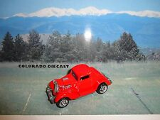 Loose Hot Wheels Red 3-Window '34 w/Real Riders