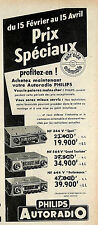 PHILIPS AUTORADIO PUBLICITE ADVERTISING 1957