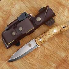 TBS BOAR BUSHCRAFT KNIFE -DC4 & Firesteel Edition- Stainless Steel & Curly Birch