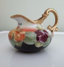 """Antique 1892-1917 T&V Limoges hand painted china pitcher Signed by """"Leger"""""""