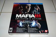 Mafia 3 III Collector's Edition Sony PlayStation 4  PS4  BRAND NEW AND SEALED