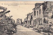 CPA GUERRE 14-18 WW1 ANIZY-LE-CHATEAU 981 bataille du chemin des dames écrite