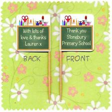 20 PERSONALISED SCHOOL TEACHER THANK YOU CUP CAKE FLAG Pick Topper Decoration