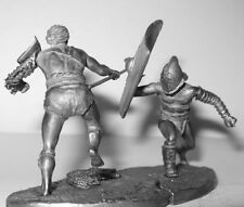 Toy lead soldier,Fight of gladiators,rare,detailed,collectable,gift idea