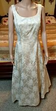 JESSICA McCLINTOCK Full Length Ivory A-Line Wedding Evening Dress Gown SZ 9/10