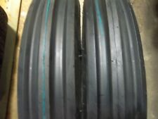 TWO 500X15,500-15,5.00X15,5.00-15 FARMALL 404   3 Rib Tractor Tires w/Tubes