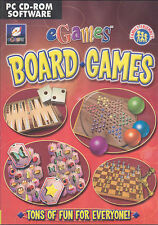 eGames - Board Games for PC - Chess Dominoes Mahjongg Backgammon - New Win 98 XP