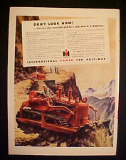 1945 WWII International Harvester Road Tractor Truck Buy Bonds Military War AD
