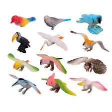 12 Pcs/Set Birds Figures Toys Set Children Kid Animal Model Toy Kit Hard Plastic