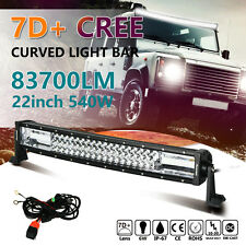 "7D+ 22"" 540W CREE LED LIGHT BAR WORK CURVED COMBO TRI ROW LAMP VS 32"" 50"" 52"""