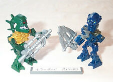 Lego Minifigure Bionicle Piraka Zaktan & Toa Inika Hahli with Weapon
