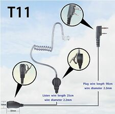 1-wire Surveillance Earpiece for Kenwood TK2402 TK2302 TK3402 Portable radio