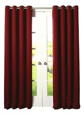 Set of 2 Sun & Moon Burgundy Red BLACKOUT Fully Lined Grommet Panel 42 x 84 NEW