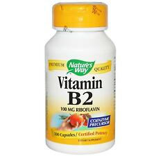 Vitamin B2 (Riboflavin) -100 -100mg Capsules by Nature's Way - Certified Potency