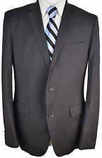 #BZ46 HUGO BOSS The Jam76/Sharp1 Black Striped 100% Wool Blazer 42 Long