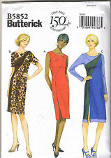 Fitted Asymmetrical Color Block Dress Butterick Sewing Pattern 14 16 18 20 22