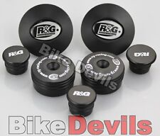 BMW R1200GS 2013 on R&G racing black frame insert plug kit 7 piece kit