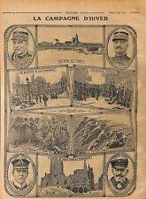 Général de Maud'Huy Bataille de l'Yser General d'Urbal Ruines de Lille  WWI 1915