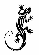 High Detail Tribal Gecko Airbrush Stencil - Free UK Postage