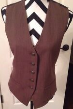 Vintage Karl Lagerfeld Tailored Brown Button Down Vest Size US14  (44)