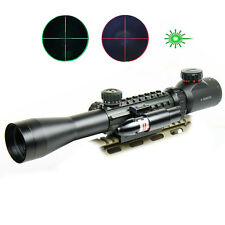 Tactical 3-9X40 Dual illuminated Mil Dot Rifle Scope with Green Laser Sight
