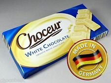 Choceur WHITE CHOCOLATE - One 7.05 oz. Bar - German Import - Superb!