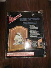 HALEX THE ORIGINAL SMYTH & TOWNLEY BRISTLE DART BOARD & CABINET SET