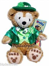 "New Disney Parks Duffy Bear St Patrick's Day Irish Green Plush 12"" Mickey Mouse"