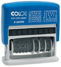 COLOP S120WD DIAL-A-PHRASE SELF INKING DATE STAMP