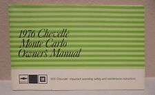 1976 CHEVELLE AND MONTE CARLO ORIGINAL OWNERS MANUAL!!
