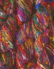 1 Quality Rercycled Soft Silk Sari Crochet Knitting Yarns 10000grams
