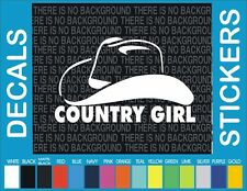 Country Girl Cowboy Cowgirl Horse hat Truck Car window Sticker Vinyl Decal