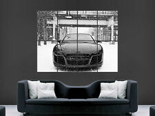 AUDI R8 POSTER CAR SUPERCAR RACING SNOW SPEED SPORT PRINT IMAGE PRINT PICTURE
