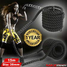 Battle Power Rope Battling Sport Exercise Fitness Bootcamp Training Gym 38mm 15m