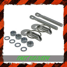 Universal Sombrero Botas Capucha Clips Pin Kit Acero Inoxidable Par Slide Carrera Rally