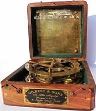Best Gift 5 inch Calibrated Large Sundial Compass with Rosewood Case.