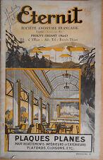 Catalogue Eternit amiante plaques planes