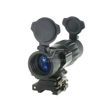JJ Airsoft 4x FXD Magnifier with Adjustable QD Mount (Black) for eotech,Aimpoint