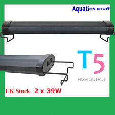 "T5 Aquarium Light 36"" Fish tank Overhead Twin tubes 90cm 100cm"